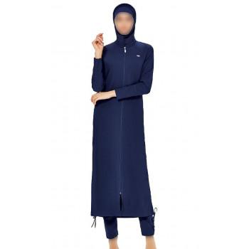 Maxi Burkini - Bleu Nuit - Plage et Sport - Burkini Façon Abaya