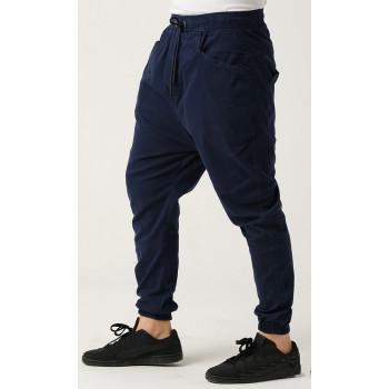 Sarouel Coton Stretch (Taille Petit) - Bleu - Qaba'il : Coupe Djazairi - Pants Léger
