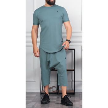 Sarouel et T-shirt Vert Amande, ensemble Qaba'il : Nautik New 2021