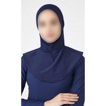 Hijab Multisport - Bonnet Intégré - Bleu - Plage et Sport