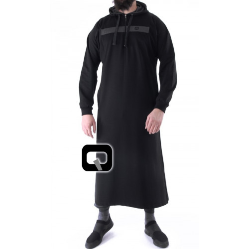 Qamis jogging long Vortex noir