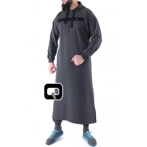 Qamis jogging long gris anthracite Vortex