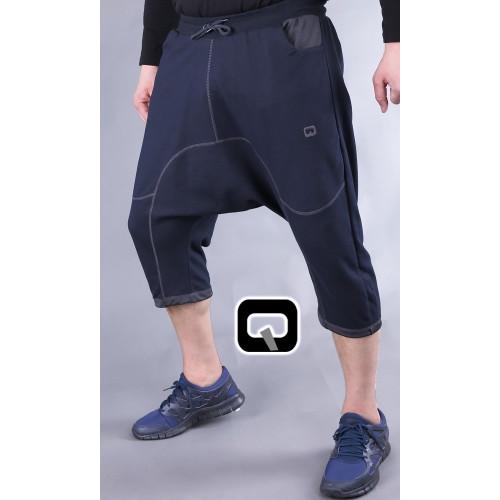 pantacourt qaba'il jogging bleu