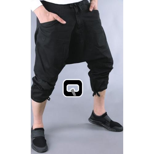 pantacourt qaba'il jean noir
