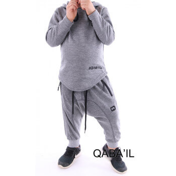 Ensemble enfant qaba'il onix gris clair