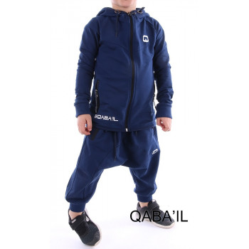Ensemble enfant qaba'il legend bleu indigo