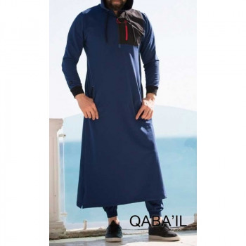 Qamis Long Indigo Qaba'il : Athletik