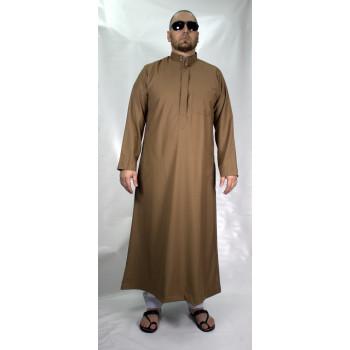 Qamis Beige Afaq - Style Haramain ou Daffah - 2728