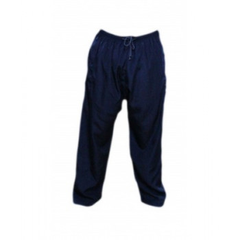 Pantalon Afaq - Sirwal Bleu Marine -Tissu Coton - Coupe Droite- 5917