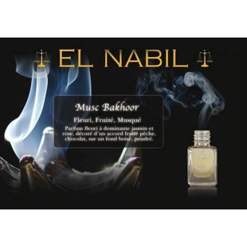 Musc Bakhoor 5 ml - Saudi Perfumes - Sans Alcool - El Nabil