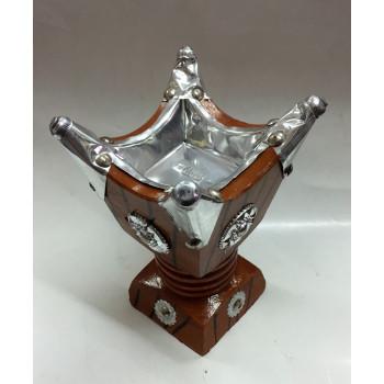 Bruleur avec Charbon Moyen - Encensoir en Bois - 8 x 15 cm - 5880