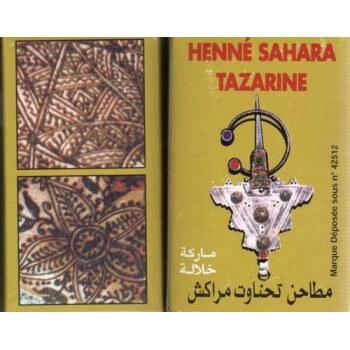 Henné - Henna Sahara Tazarine pour le Tatouage des Mains et des Pieds