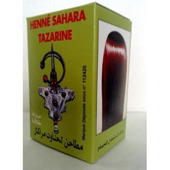 Henné Cheveux - Henna Sahara Tazarine en poudre CHEVEUX