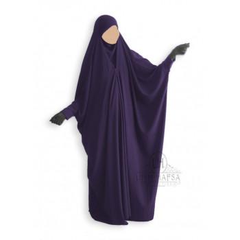 Jilbab Saoudien Umm Hafsa Aubergine