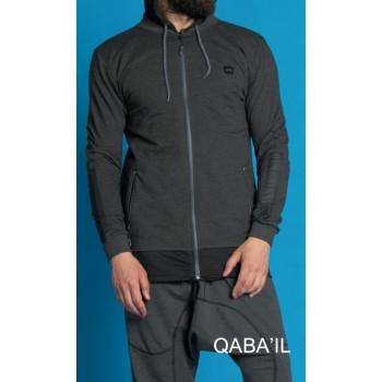 Veste qaba'il bicor drive noir et gris clair