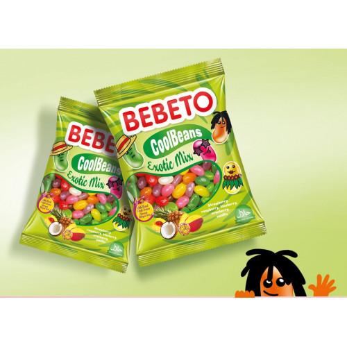 Bonbons Cool Beans - Tropical Mix - Fabriqué avec du Vrai Jus de Fruit - Bebeto - Halal - Sachet 60gr