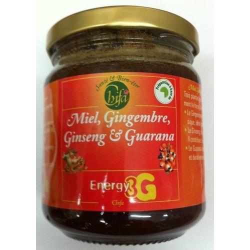 Miel Energy 3G aux Gingembre, Ginseng et Guarana - Chifa 250 gr