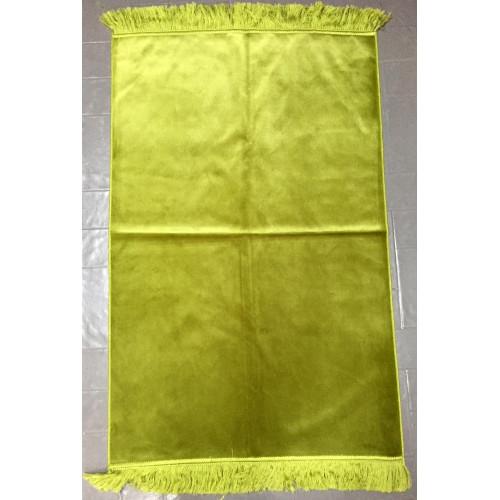 Tapis de Prière de Luxe - Couleur Unis - Vert Pistache - U11