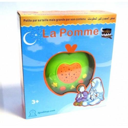 Veilleuse - La Pomme - 3 Types de Projection Lumière, Invocations et Doua Prière, Récitation Coran, Anasheed